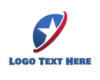 American - American Star logo design