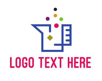 Beaker - Modern Beak Outline logo design
