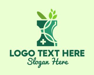 Pestle - Green Natural Pharmacy logo design