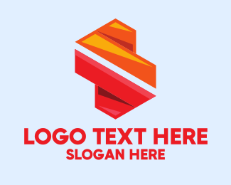 Advertising Agency - Colorful Geometric Letter S  logo design