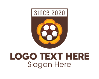 Fc - Soccer Football Club Crest logo design