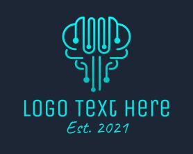 Intelligent - Brain Circuit Technology logo design