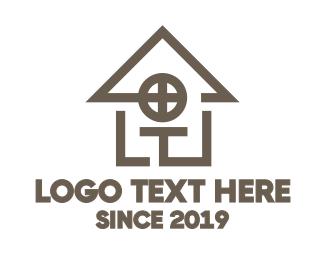 Real Estate - Geometric House logo design