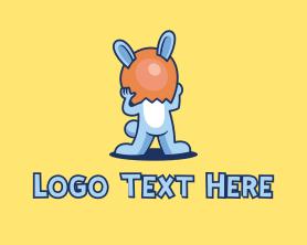 Shell - Easter Bunny Egg Shell logo design