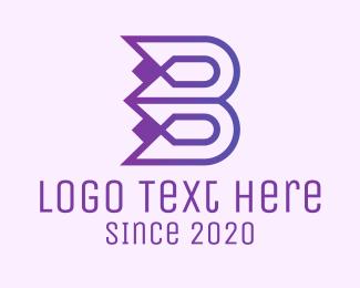 Flower Bud - Abstract Tulip Letter H logo design
