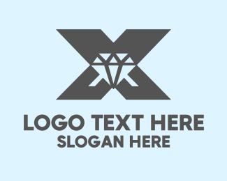"""Diamond Letter X"" by SimplePixelSL"