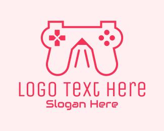 Twitch - Pencil Game Console logo design