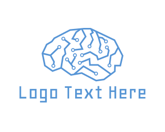 It Company - Circuit Brain logo design