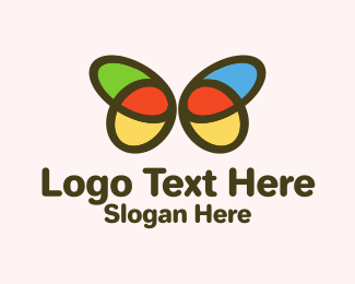 Metamorphosis - Multicolor Simple Butterfly  logo design