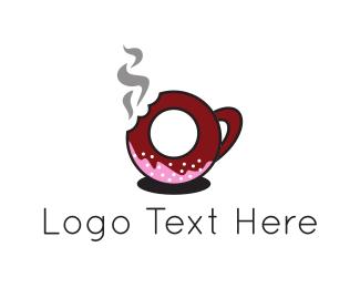 Donut - Donut Cup logo design