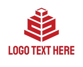 Red Building - Red House logo design