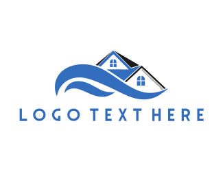 Residential Construction - Waves House logo design