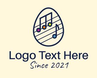 Music Class - Musical Note Egg logo design