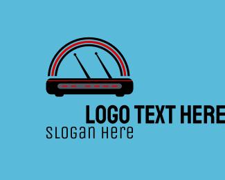 Router - Modem Router  logo design