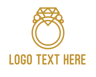 Diamond - Diamond Ring Outline logo design