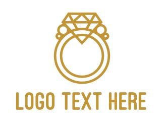 Diamond - Diamond Ring Outline logo design