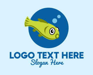 Swimming - Swimming Pet Fish logo design