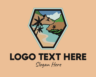 Plains - Outdoor Summer Beach logo design
