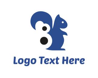Tail - Blue Squirrel logo design