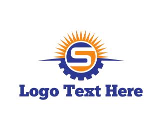 Cogwheel - Solar Energy  logo design