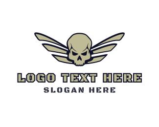 Corps - Skull Wing Gaming logo design