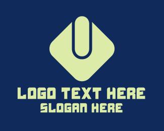 Computer Store - Abstract Green Power Button  logo design