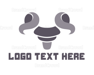 Dairy - Gray Goat Outline logo design