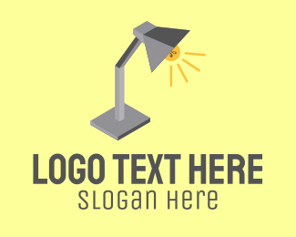 Lamp - Isometric Desk Lamp logo design