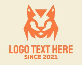 Jackal - Orange Bobcat Mascot logo design