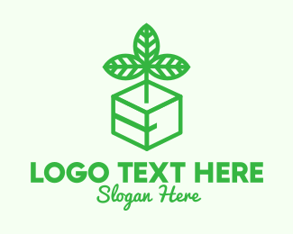 Package - Green Plant Box logo design