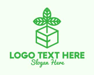 Produce - Green Plant Box logo design