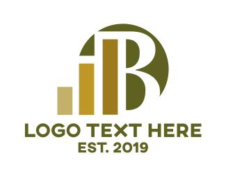 Stock Market - Luxury B Financing logo design