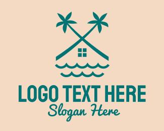Beach House - Beach House Villa logo design