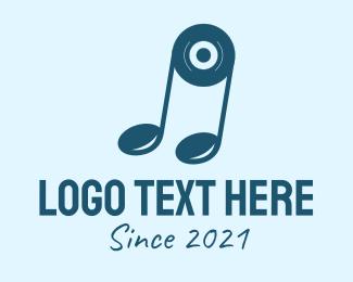 Node - Blue Disk Note  logo design