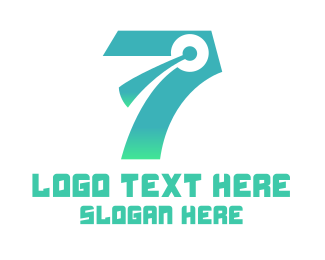 Team Speak - Modern Chat Number 7 logo design