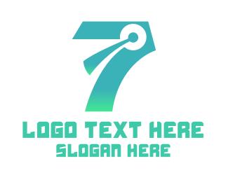 Discord - Modern Chat Number 7 logo design