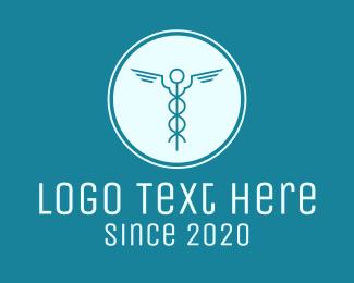 Caduceus - Minimal Medical Symbol logo design