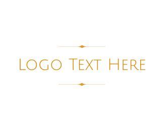 Radial Balance - Golden Wordmark logo design