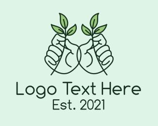 Seedlings - Plant Hands  logo design