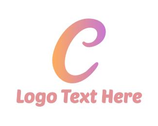 Classy - Curly Feminine C logo design
