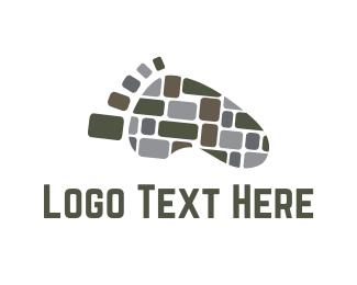 Footprint - Stone Path logo design