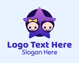 Childcare - Star Kids logo design