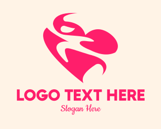 Humanity - Pink Human Heart logo design