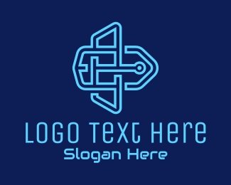 Tech Store - Digital Price Tag logo design