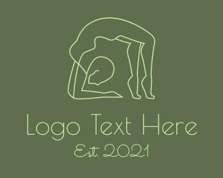 Gymnast - Human Gymnast Pose logo design