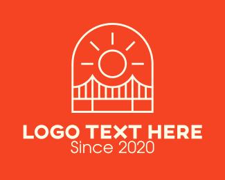 Truss - San Francisco Golden Gate Bridge logo design