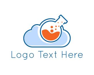 Scientific - Lab Cloud logo design