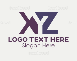 Orange And Purple - Orange & Purple Letters logo design