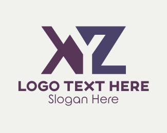 Initial - Orange & Purple Letters logo design
