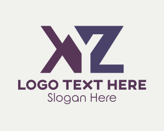 Alphabet - Orange & Purple Letters logo design